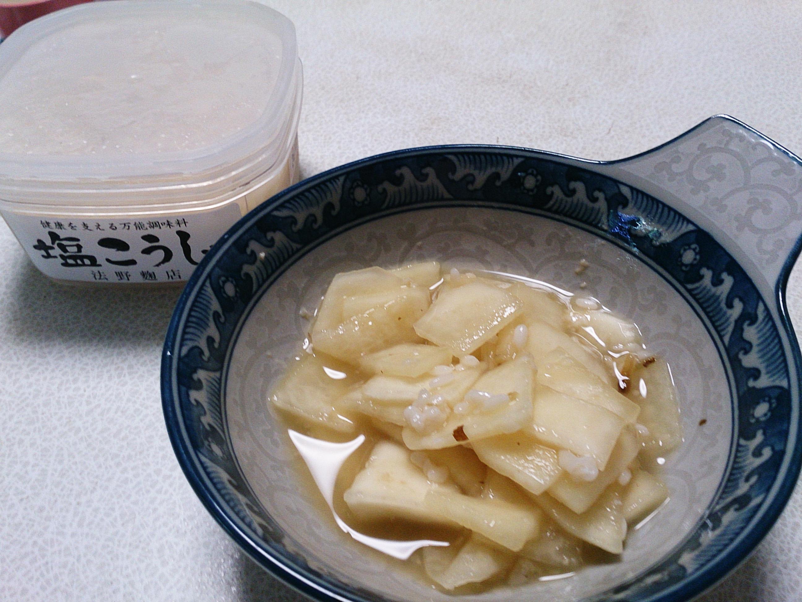 かぶの塩麹と酢の物