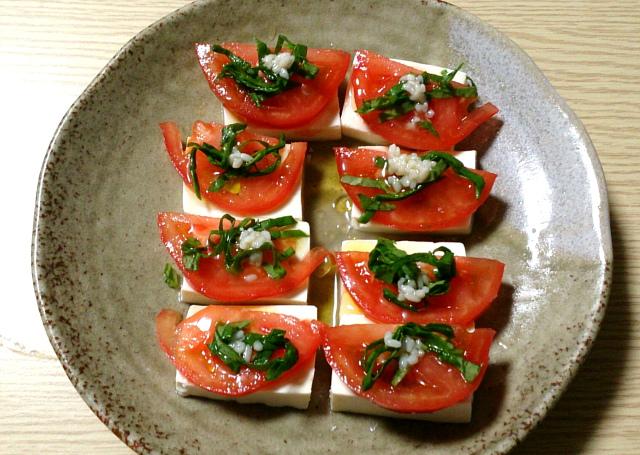 豆腐とトマトの塩麹カプレーゼ1