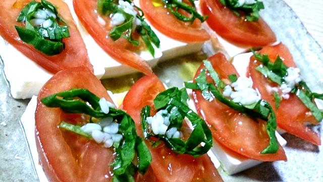 豆腐とトマトの塩麹カプレーゼ2