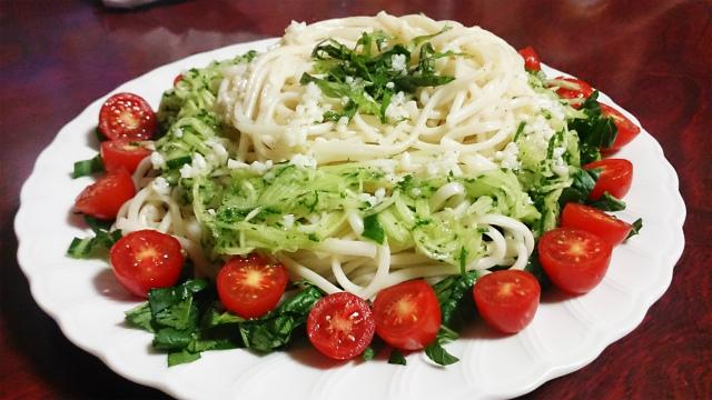 【素麺パスタ3】塩麹と大葉の素麺パスタの感性